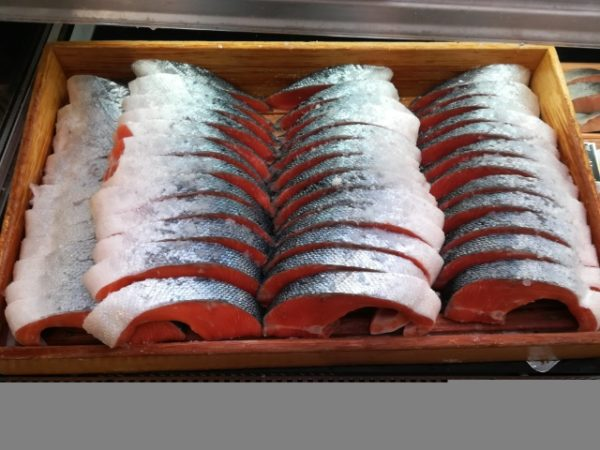slices of fish